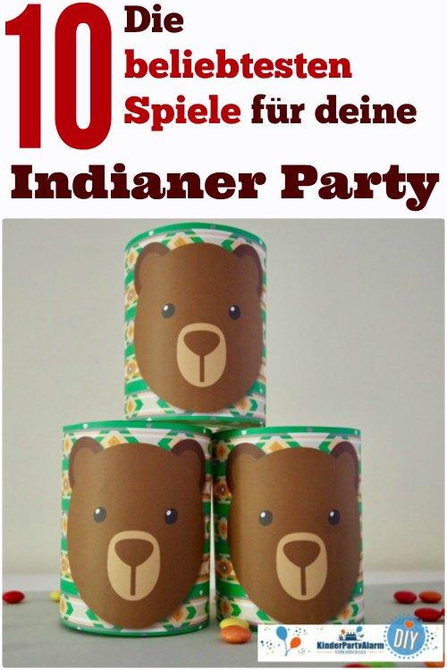 Indianer Geburtstag Spiele