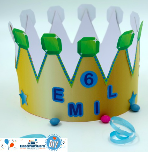 DIY Krone basteln, Geubrtagskrone basteln, Basteln beim Kindergeburtstag #kindergeburtstag #geburtstag  #mottoparty #kinderpartyalarm #bastelnmitkindern #geburtstagsideen #kids