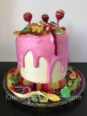 Candy Drip Cake von vorne